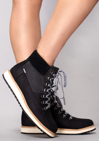 Mesa Waterproof Leather Boots in Black