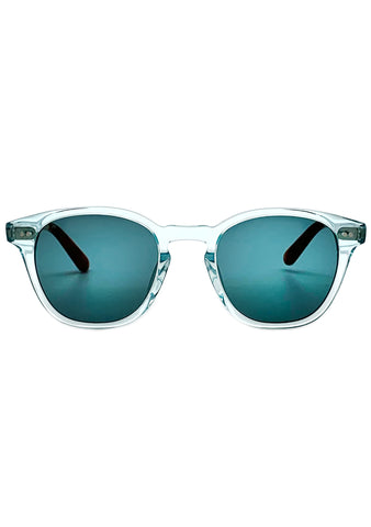 Wyatt Sunglasses in Blue Crystal/Green