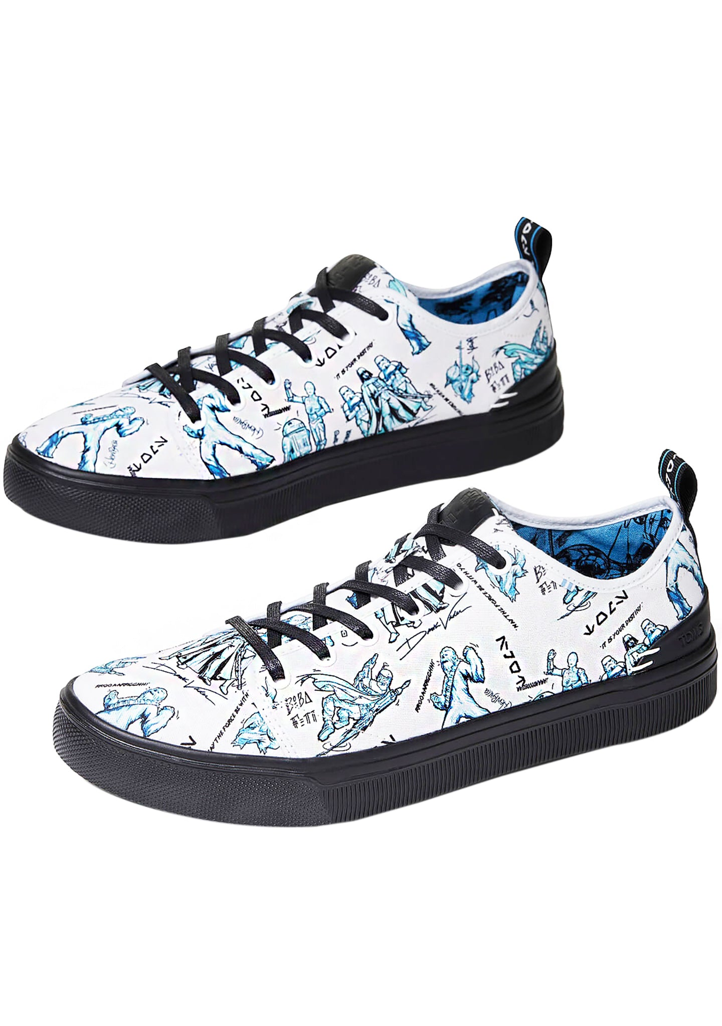Star Wars Sneakers >> X Star Wars Character Sketch Print Mens Travel Lite Low Sneakers