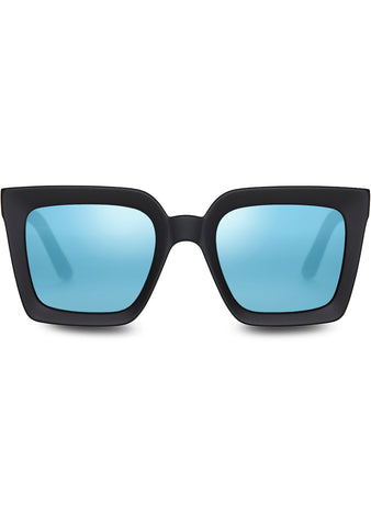 TRAVELER Zuma Sunglasses in Matte Black/Blue