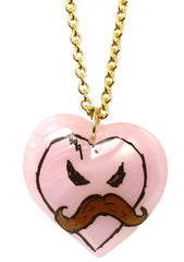 Tarina Tarantino X KidRobot I Love Mustache Long Heart Necklace