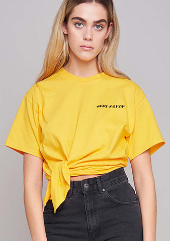 The Ragged Priest Opinions Tee in Yellow