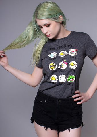 TOKIDOKI x Gudetama I'm Feeling Lazy Tee in Grey