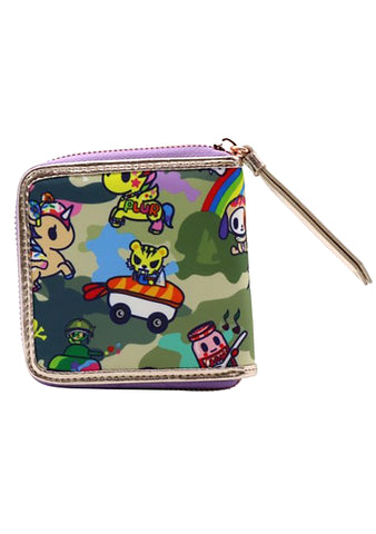 Camo Kawaii Small Zip Wallet