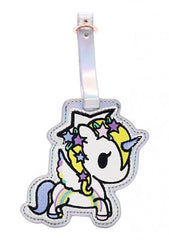 Camo Kawaii Star Fairy Unicorno Luggage Tag