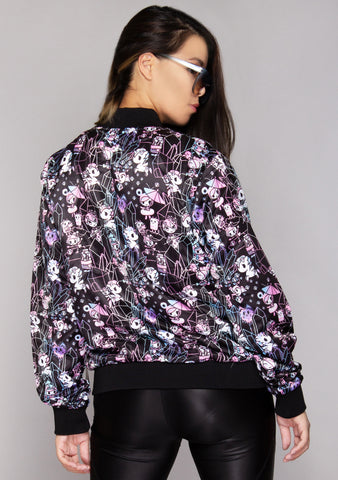 Crystal Palace Satin Bomber Jacket