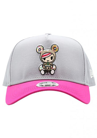 Donut Boba Women's Snapback in Grey