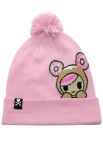 Donutella Peeking Pom Beanie Hat