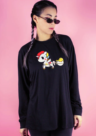 Free Ride Gudetama Long Sleeve Tee