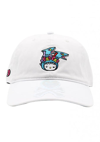 X Hello Kitty Kaiju Kitty Bow Dad Hat in White