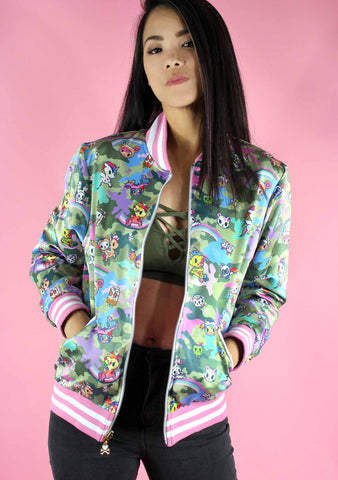 Kawaii Camo Reversible Bomber Jacket