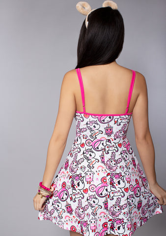 Pretty in Pink Skater Dress in Pink