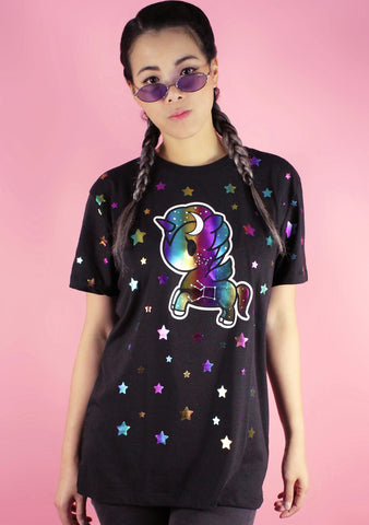 Star Studded Women's Boy Fit Tee