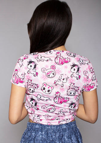 Sweet Blossom Sublimated Tee in Pink