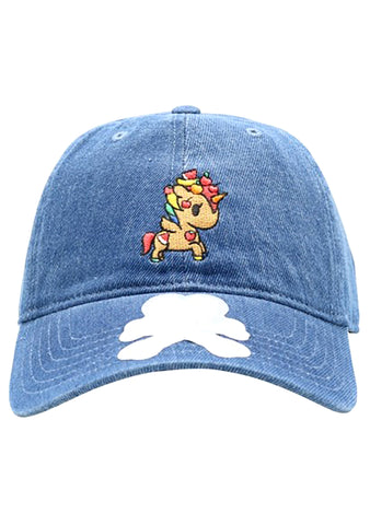 Fruity Adjustable Dad Hat in Blue