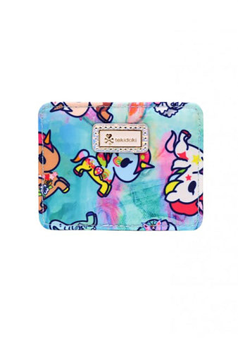 Watercolor Paradise Flat Card Holder