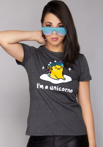X Gudetama Cosplay Unicorn Tee