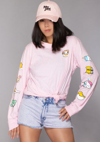 X Gudetama Donut Nap Long Sleeve Top