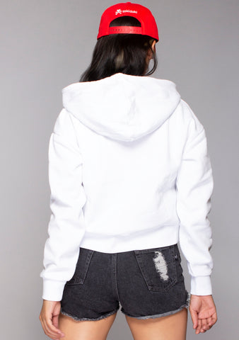 X Hello Kitty Cuddle Cropped Hoodie