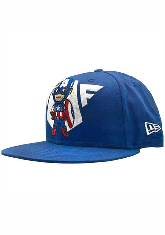 X Marvel Captain Emblem Snapback Hat