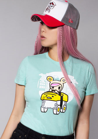 X Gudetama Hit the Road Tee in Mint