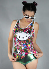 X Hello Kitty Floral Friends Racerback Tank Top