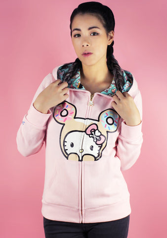X Hello Kitty Peeking Donut Hoodie Jacket
