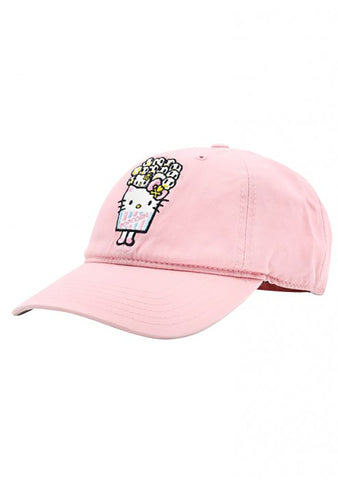 X Hello Kitty Popcorn Kitty Dad Hat in Pink