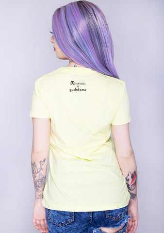 X Gudetama Glad You're Not Here Tee