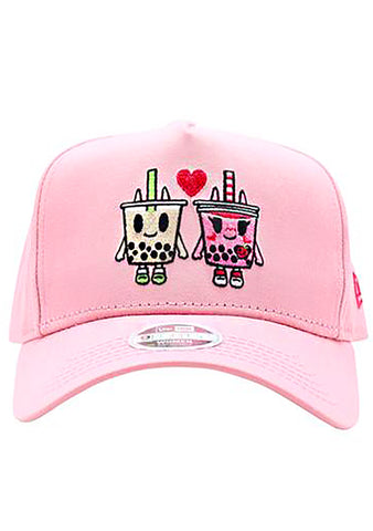 Boba Love Adjustable Snapback in Pink