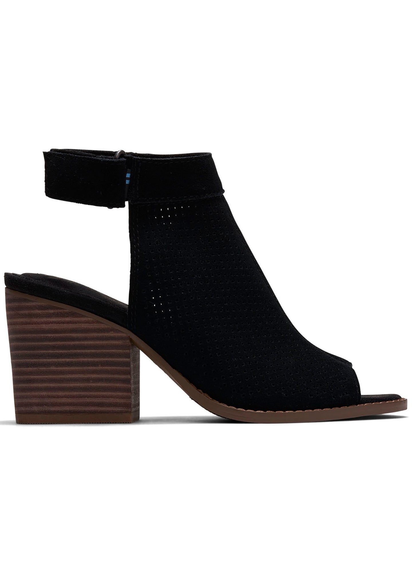 Suede Grenada Sandals in Perforated Black