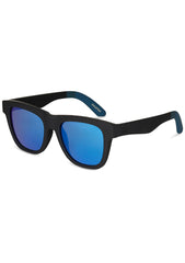 TOMS TRAVELER Dalston Sunglasses in Matte Black/Blue