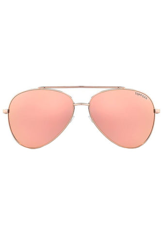 Amelia Sunglasses in Rose Gold