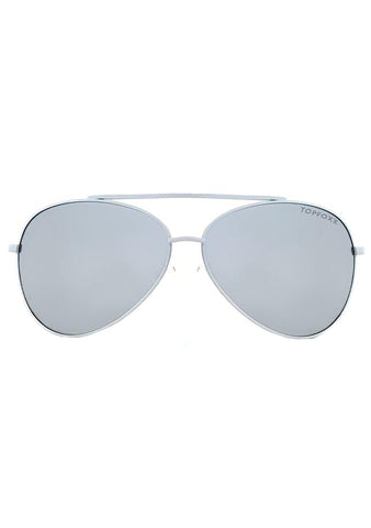 Amelia Sunglasses in White Silver