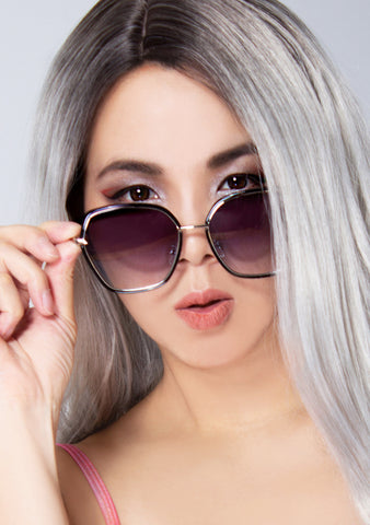 Maya Sunglasses in Faded Black