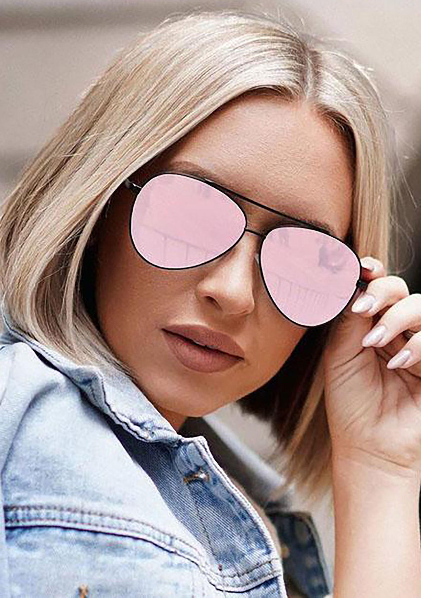 X Megan Hannigan Megan Sunglasses in Black Rose Gold