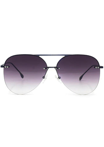 Megan 2 Narrow Sunglasses in Black Fade