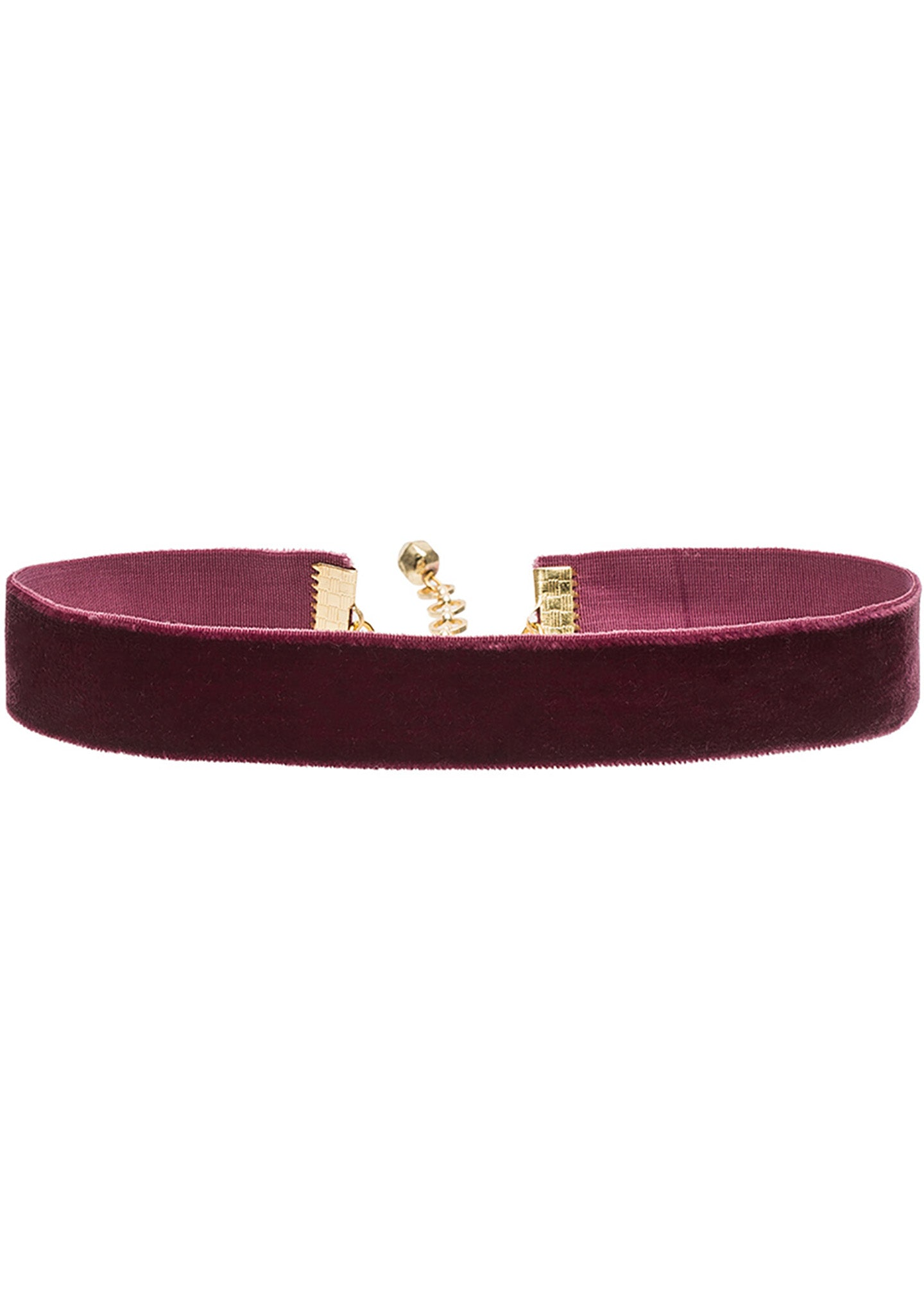 "Vanessa Mooney 3/4"" Bordeaux Velvet Choker"