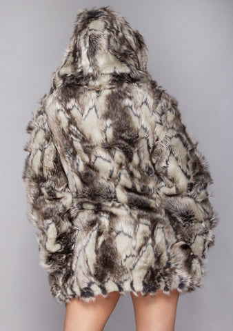 Dusk Till Dawn Convertible Faux Fur Coat