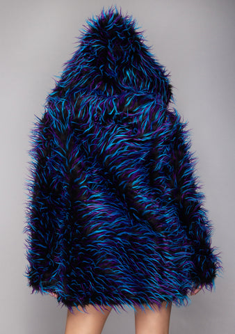 Electric Avenue Convertible Faux Fur Coat