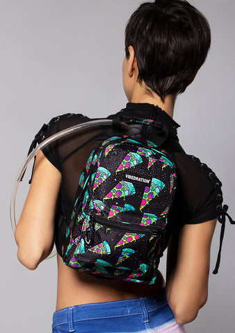 Vibedration Cosmic Pizza H2O 1.0L Mini Hydration Backpack