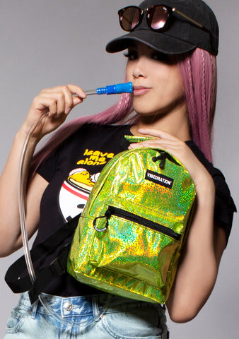 Neon Yellow Haze Mini Backpack
