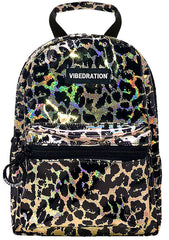 Wild Life Mini Backpack in Holographic Gold Black