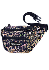 Wild Life Sling Pack in Holographic Gold Black