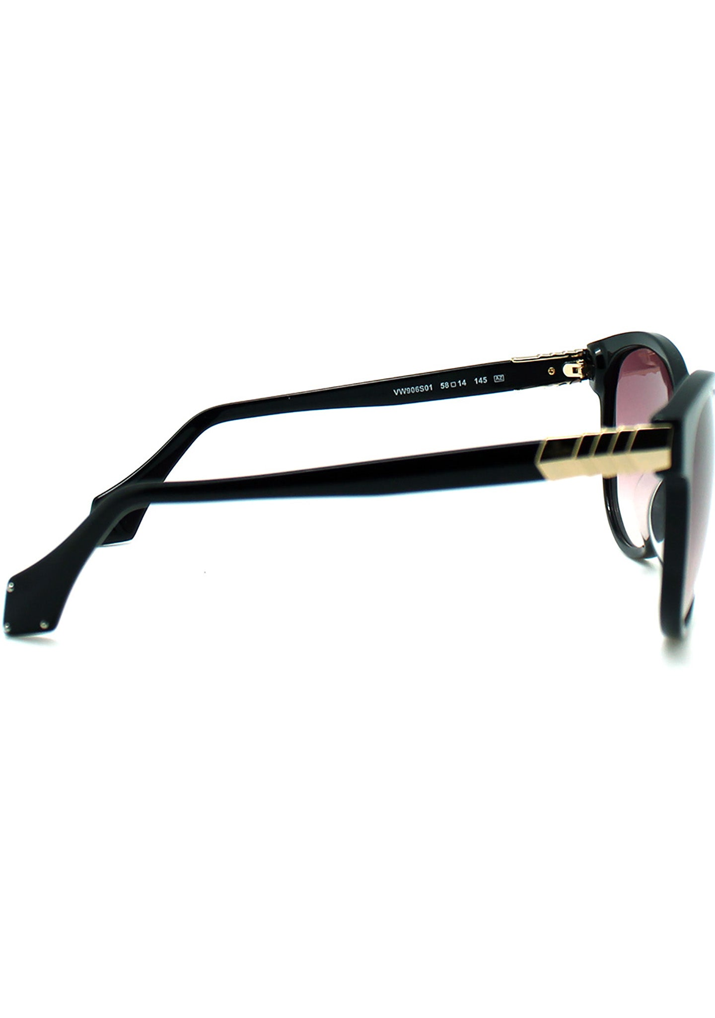 Vivienne Westwood Armour Cat Eye Sunglasses in Black