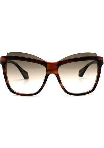Vivienne Westwood Cat Eye Sunglasses in Brown
