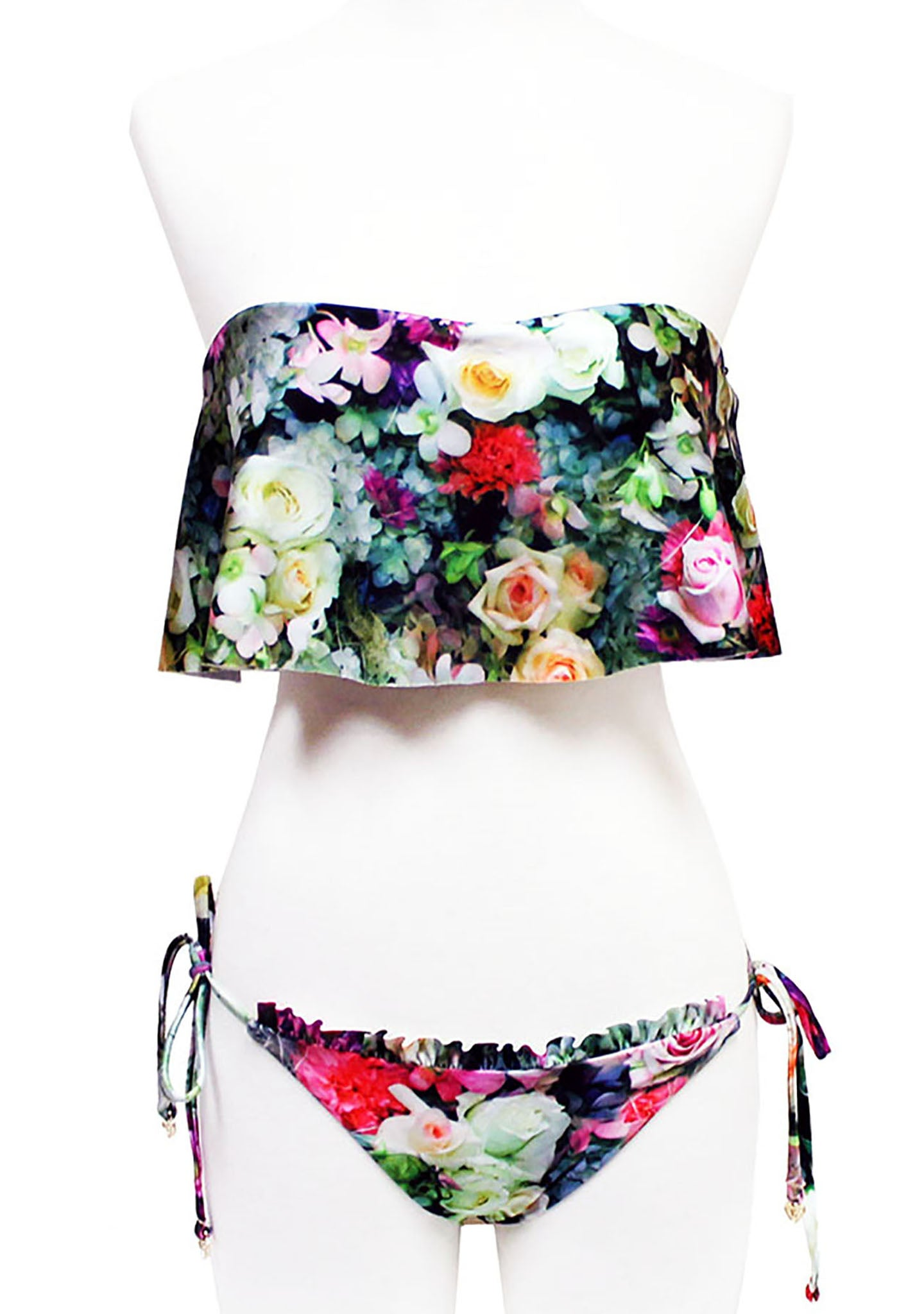 Wildfox Swim Fairy Wall Ruffle String Bikini Bottom