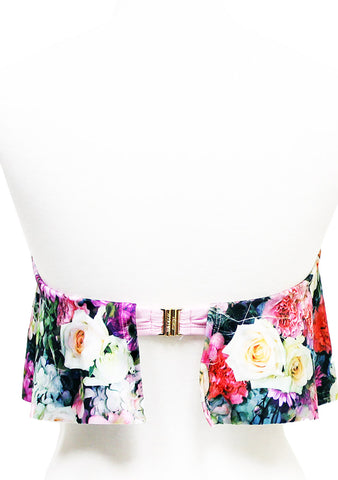 Wildfox Swim Fairy Wall Strapless Flutter Bikini Top