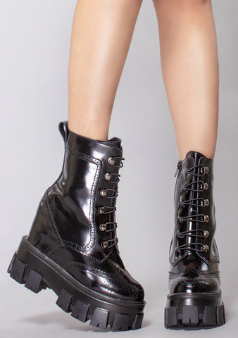 WTF Proto-Punk Platform Wedge Boots
