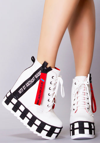 WTF Check Me Out High Top Platform Sneakers